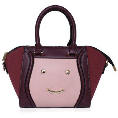 Metal Smile Face Tote Bag