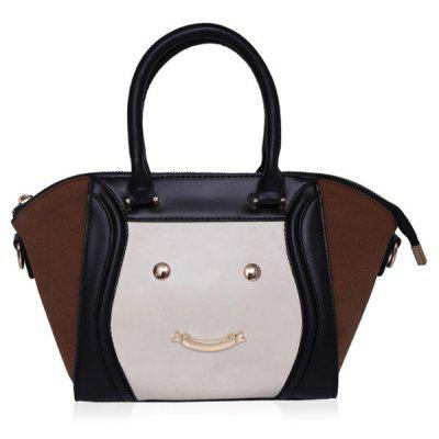 Metallic Smile Face Tote Bag