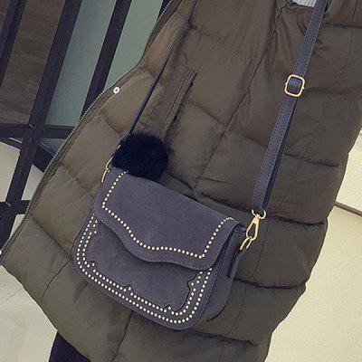 Suede Small Rivet Bag