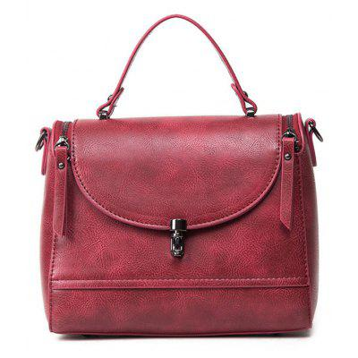 PU Leather Double Zips Handbag