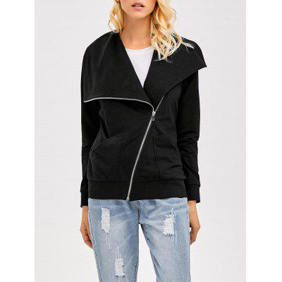Inclined Zip Waterfall Jacket
