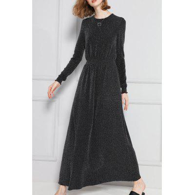 A Line Maxi Long Sleeves Dress