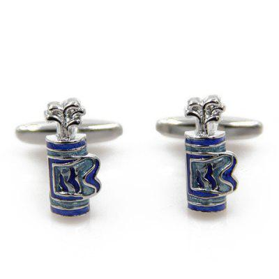 Golf Bag Shape Cufflinks