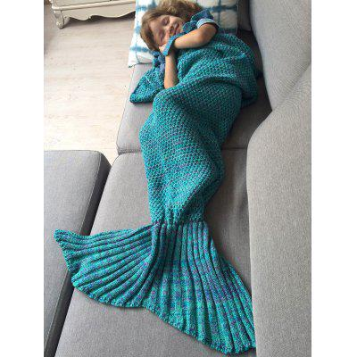 Buy TURQUOISE Winter Sleeping Bag Bed Throw Wrap Mermaid Blanket for $14.10 in GearBest store