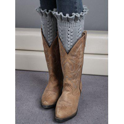 Winter Laciness Knit Boot Cuffs