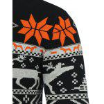Crew Neck Deerlet Snowflake Christmas Sweater deal
