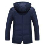 cheap Hooded Drawstring Design Zip Up Down Jacket