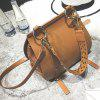 Metal Ring Rivets PU Leather Crossbody Bag photo