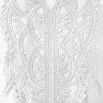 Lace Patchwork Peasant Top - WHITE