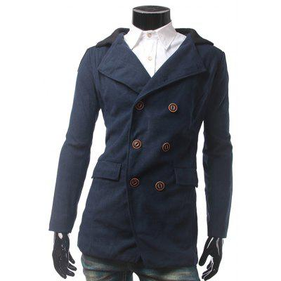 Back Vent Flap Pocket Pea Coat