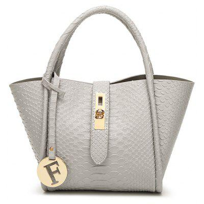 Crocodile Embossed Handbag