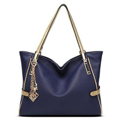 PU Leather Metal Pendant Shoulder Bag