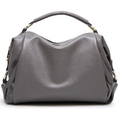 Metallic Zips Textured PU Leather Tote