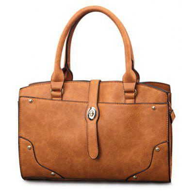 Textured PU Leather Handbag