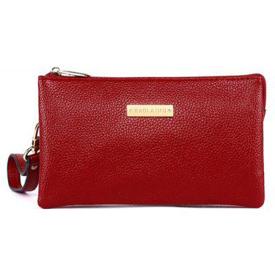 PU Leather Metal Embellished Clutch Bag