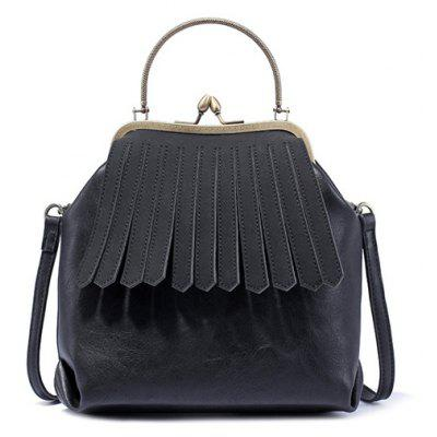 Metal Trimmed Fringe Bag