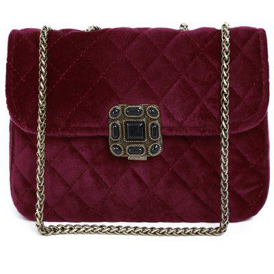 Velour Quilted Bag