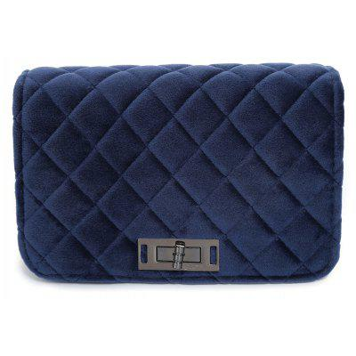 Ketten Velour Quilted Crossbody Tasche