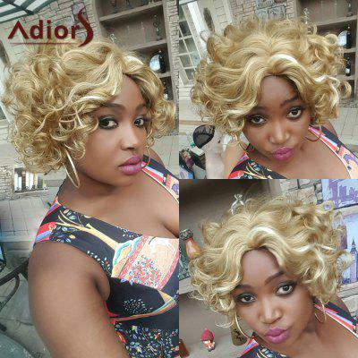 Adiors Hair Mixed Color Short Side Parting Curly Synthetic Wig