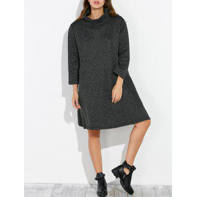 Buy BLACK Loose Knee Length Shift Dress for $40.98 in GearBest store