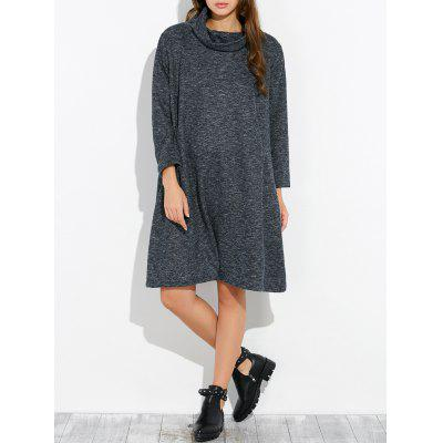 Buy CADETBLUE Loose Knee Length Shift Dress for $40.98 in GearBest store