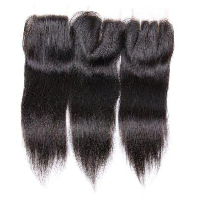1 Pcs 4x4 Inch Straight 7A Brazilian Virgin Hair Top Closure