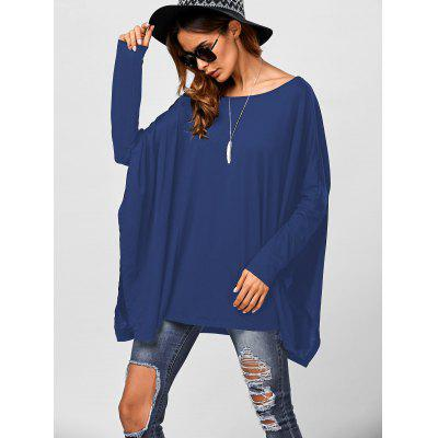 Shoulder Slit Side Smock Drop Tee ZTdUW