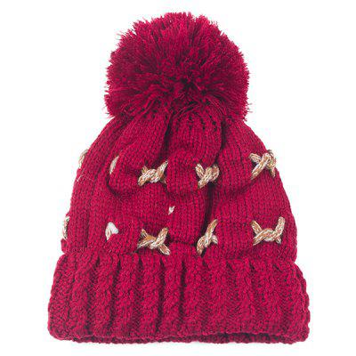 Knit Cable Pom Hat