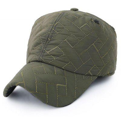 Outdoor Rhombus Warm Ear Warmer Adjustable Baseball Cap