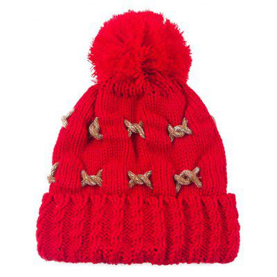 Warm Knit Cable Braided Pom Hat