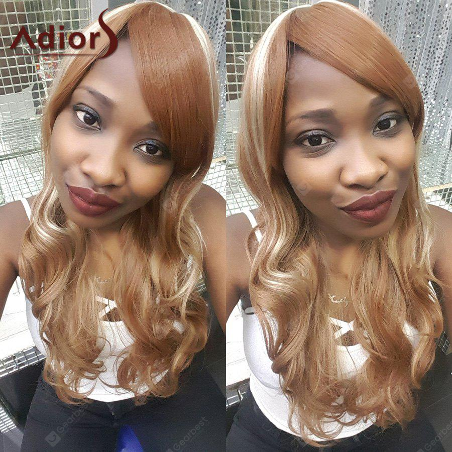 Adiors Hair Multi Color Long Side Bang Wavy Synthetic Wig