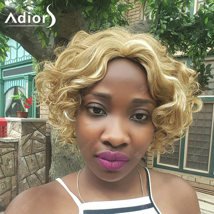 Adiors Hair Mixed Color Short Curly Synthetic Wig