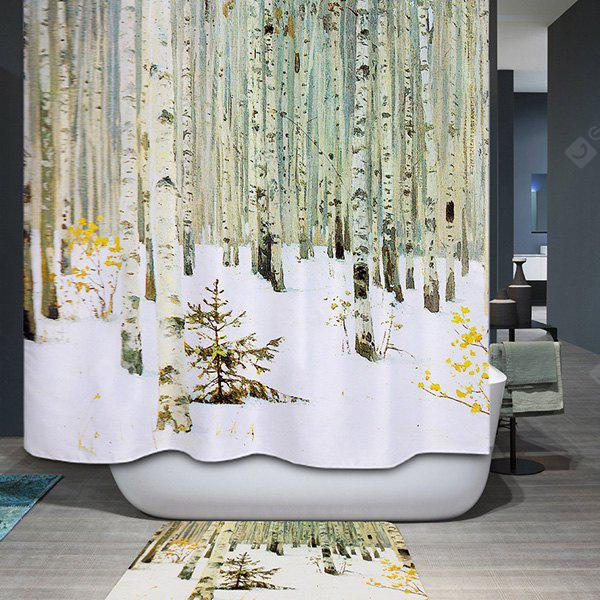 Buy Waterproof Mildewproof Winter Forest Design Shower Curtain COLORMIX