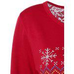 Back Slit Merry Christmas Print Sweatshirt deal
