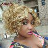 Adiors Hair Mixed Color Short Side Parting Curly Synthetic Wig - COLORMIX