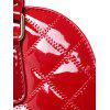 Quilted Patent Leather Handbag - RED