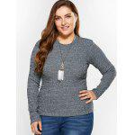 cheap Plus Size Fitted Knitwear