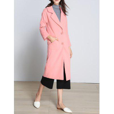 Slimming Long Woolen Coat
