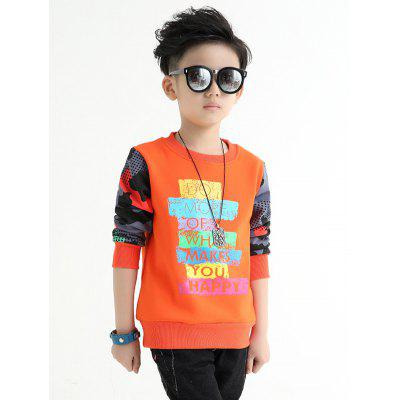 Crew Neck Color Block Boys Sweatshirt