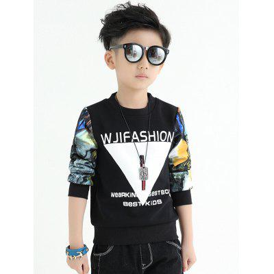 Crew Neck Scenery Print Boys Sweatshirt