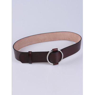 Adjustable PU Round Buckle Belt