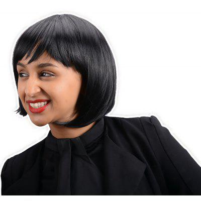 Short Cute Straight Oblique Bang Synthetic Wig