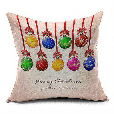 Buy COLORFUL Christmas Ribbons Gift Cushion Throw Pillow Case for $7.99 in GearBest store