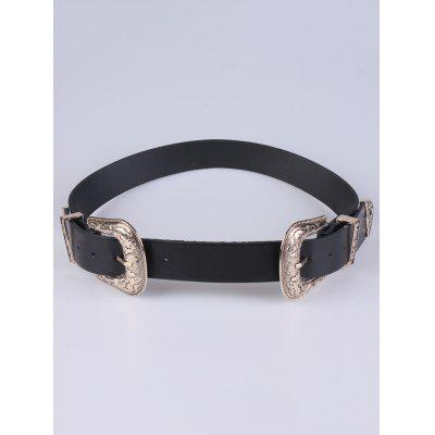 Adjustable Double Buckle Belt