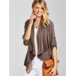 cheap Asymmetric Loose Duster Coat