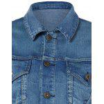 Pocket Star Appliques Denim Jacket for sale