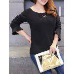 Plus Size Brushed Keyhole Long Sleeve Tee deal
