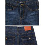 Straght Leg Zip Fly Flap Pocket Jeans photo