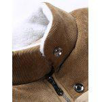 Peluche Fodera in velluto a coste Inserire Zip Up Jacket - CACHI