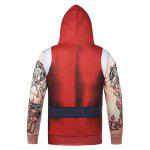 Hooded Father Christmas Costume Tattoo Pattern Hoodie deal